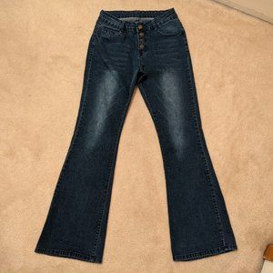*2/15$* Wear Button Up Flare Jeans - S